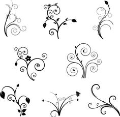 simple swirl design - Google Search