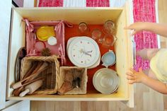 Lovely photos of Montessori kitchen