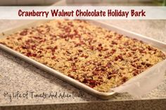 Recipe - Chocolate Nut Bark    Created by My Life of Travels and Adventures