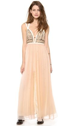 Free People Golden Chalice Maxi Dress.  Free People makes me want to wear dresses every day