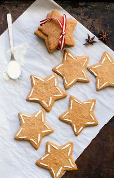 Five-Spice Ginger Thins with white chocolate icing. (like Anna's swedish cookies)