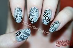 blah blah blah nail art