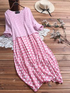 Casual Polka Dot Patchwork Two Pieces Plus Size Maxi Dress – monyberry Plus Size Vintage Dresses, Plus Size Maxi Dresses, Dress Vintage, Long Dresses, Vintage Floral, Summer Dresses, Sleeveless Dresses, Sleeve Dresses, Dress Long