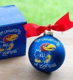 University of Kansas Logo Ornament