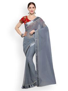 Saree Salwar Lehenga Exporter, and Shopping Store. Sringaar is one of the largest selling Saree, Salwar Kameez and Lehenga Brand all over world. Latest Designer Sarees, Latest Sarees, Indian Beauty Saree, Indian Sarees, India Sari, Grey Saree, Plain Saree, Casual Saree, Indian Fashion