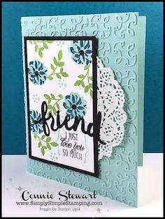 FLASH CARD - Elegant Friend Card - Video No. 96