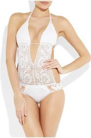 White crochet swimsuit