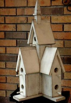 Wooden Creations WC 735 Cathedral Birdhouse wood craft pattern