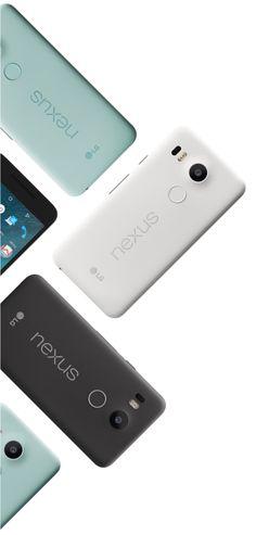 Grid of Nexus 5x on the left