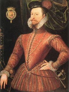 Robert Dudley Earl of Leicester by an Unknown Artist, c.1575. NPG, London.