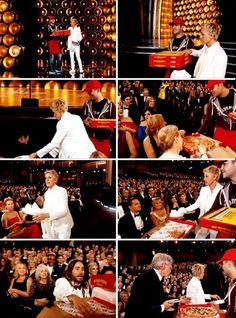 We will always remember Oscars 2014 because Ellen turned it into the best pizza party ever.
