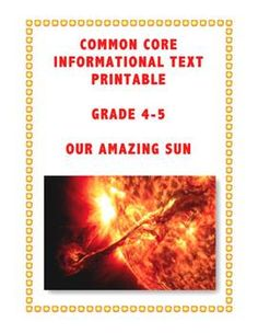 Hot off the press during this HOT summer. Tackle CCS Standards for informational text and teach science. FREE!