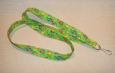 Mice and cheese  handmade fabric lanyard by doodlebugquilts (Accessories, Lanyard, keychain, id, fabric, handmade, women, mice, cheese, swiss cheese, green grass, mouse)