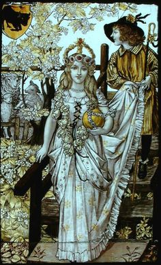 """""""The May Queen is a girl crowned with flowers who is selected to ride or walk at the front of a parade for May Day celebrations. She wears a white gown to symbolise purity and usually a tiara or crown. Her duty is to begin the May Day celebrations."""""""