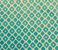 Fabricut Turquoise White Reversible Upholstery Quatrefoil Fabric by ShopPetunias on Etsy https://www.etsy.com/listing/239290436/fabricut-turquoise-white-reversible
