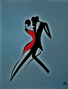 ^ This one definitely looks like the tango to me. Amazing how a minimal amount of color and number of lines can convey so much. Dancing Drawings, Art Drawings, Tango Art, Illustration Mode, Minimalist Art, Painting & Drawing, Line Art, Mail Art, Modern Art