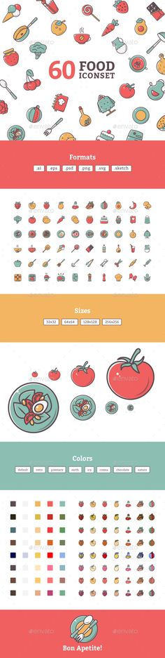 Foodly Illustrative Icon Set — Photoshop PSD #egg #chef • Available here → https://graphicriver.net/item/foodly-illustrative-icon-set/19476254?ref=pxcr