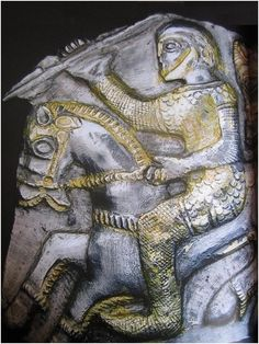Depiction of a Celtic warrior from the Letnitza treasure, Lovech region, Bulgaria.