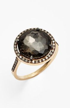 Free shipping and returns on KALAN by Suzanne Kalan Diamond & Stone Ring at Nordstrom.com. A highly faceted semiprecious stone offers a versatile pop of color for a feminine pink-gold necklace substantially illuminated by sparkling pavé champagne diamonds.