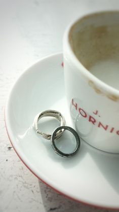 Coffee and jewelry = happy life One of a kind handmade rings in silver and oxidised silver. Unisex and suitable as wedding rings. Handmade Rings, Oxidized Silver, Lovers Art, Contemporary Style, Happy Life, Best Gifts, Jewelry Design, Wedding Rings, Unisex