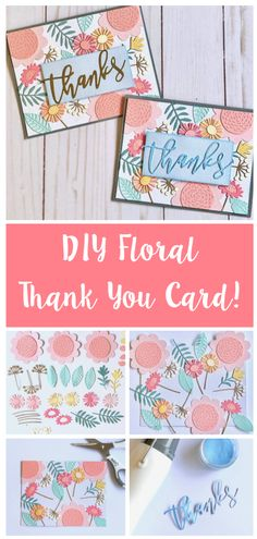 How to make your own floral thank you card! The perfect card idea to send to a friend or family!   Great for papercrafts and cardmaking click to see how to make on our blog!  ##papercraft #craft #diecutting #sizzix #creative #handmade #creative #craftsposure #cardmaking #SizzixColorStory #shakercard #thankyoucard #occasioncard #papercrafts Sizzix Dies, Arts And Crafts, Paper Crafts, Shaker Cards, Flower Cards, Die Cutting, Handmade Cards, Thank You Cards, Cardmaking
