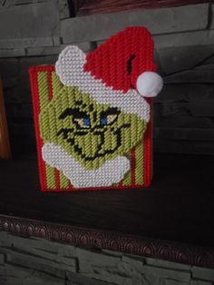 Your place to buy and sell all things handmade Plastic Canvas Tissue Boxes, Plastic Canvas Crafts, Plastic Canvas Patterns, Crochet Humor, Plastic Canvas Christmas, Monster High Dolls, Tissue Box Covers, Covered Boxes, Christmas Ornament
