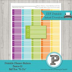 Printable Planner Sticker TO DO for Erin by PlanningbyClaudell