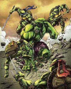 #Hulk #Fan #Art. (Green versus Greens) By: BacchiColorist. ÅWESOMENESS!!!™ ÅÅÅ+