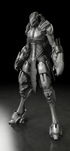 Insprational pictures of robot, spaceship and some not so human anatomy. - Technology And Gadgets For You Zbrush, Arte Ninja, Arte Robot, Robot Art, Robot Concept Art, Armor Concept, Rpg Star Wars, Mode Cyberpunk, Cool Robots