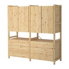 IVAR 2 sections/cabinet/chest IKEA Untreated solid pine is a durable natural material that can be painted, oiled or stained according to preference.