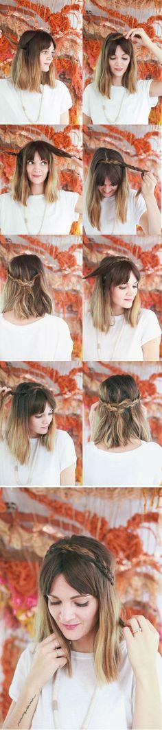 5 #peinados para cabello corto, fáciles y rápidos #peinadospelocorto