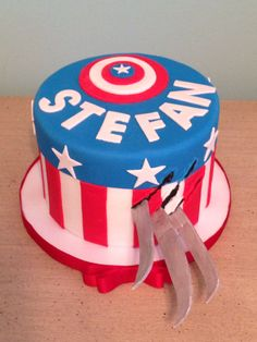 Wolverine and Captain America Cake