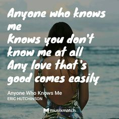Eric Hutchinson - Anyone Who Knows Me