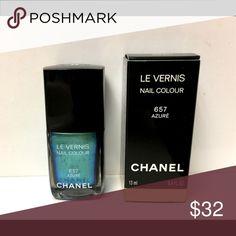 Chanel Azure Nail Polish Limited Edition Polish. Used one time. CHANEL Makeup