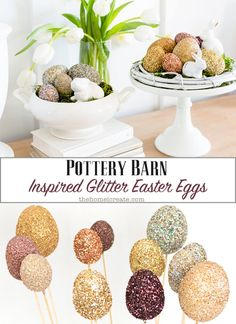Easy Pottery Barn inspired Easter egg craft. via @homeicreate