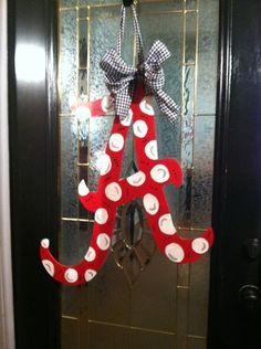 Alabama Door Hanger. $40.00, via Etsy.