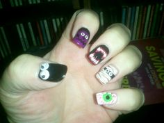 Halloween nails 2013, left hand
