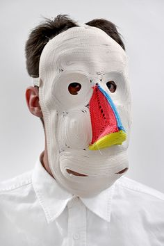 Bertjan Pot: coiled-rope masks | Clive Hicks-Jenkins' Artlog: