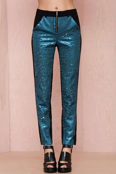 Three Floor Très You Sequin Pant - Sale: 60% Off and Up | Pants