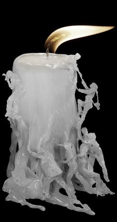 dripping candle wax art by Ferdi Rizkiyanto I cant even imagine how much patience you would need!