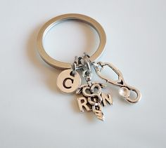 Nurse keychain RN keychain gift Registered by MemorableCharms