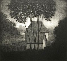 Robert Kipniss. Evening, 1982. Mezzotint.