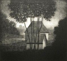 Robert Kipniss. Evening, 1982. Mezzotint.
