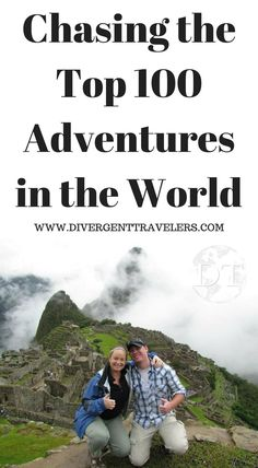 Chasing the Top Adventures in the World. The Divergent Travelers Adventure Travel Blog  is on a mission to experience and document the Top 100 Travel Adventures. Chase the adventure alongside us – watch our videos, follow our posts and updates – and get inspired yourself. http://www.divergenttravelers.com/