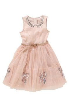 Pink embellished dress Next