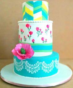 my first fondant 3 tier cake..