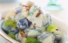 LÆkre waldrofsalater med vinduer, selleri og æbler - smager fantastisk til simreretter
