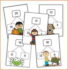 Vorig jaar had ik gelijkaardige kaarten in thema lente gemaakt. Het duurt nog even voordat de kinderen van het eerste deze kaarten kunnen gebruiken. Dus heb ik ze aangepast om bij het huidige seizo...