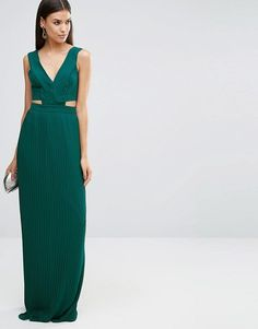 ASOS Tall | ASOS TALL Pleated Maxi Dress with Cut Out Side