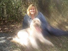 Scully & I at Lemoine's Point on Oct. 2/10 #goldendoodle